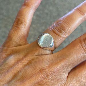 Sterling silver women's Signet Ring 5 6 7 8 9